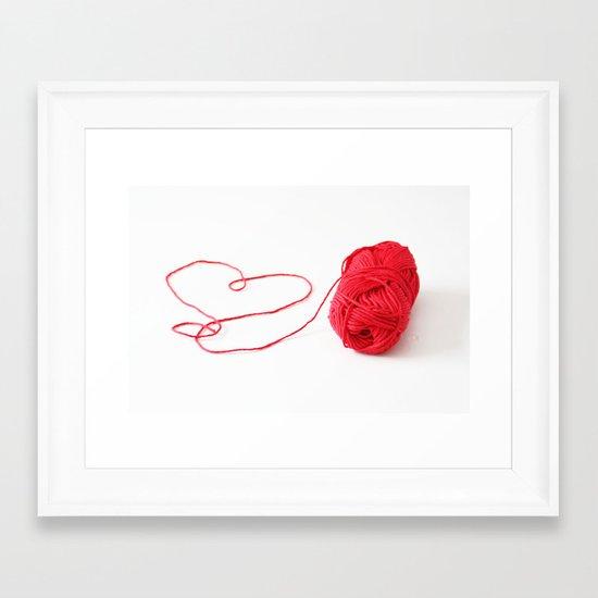 I love yarn Framed Art Print