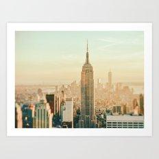 New York City Skyline Dreams Art Print