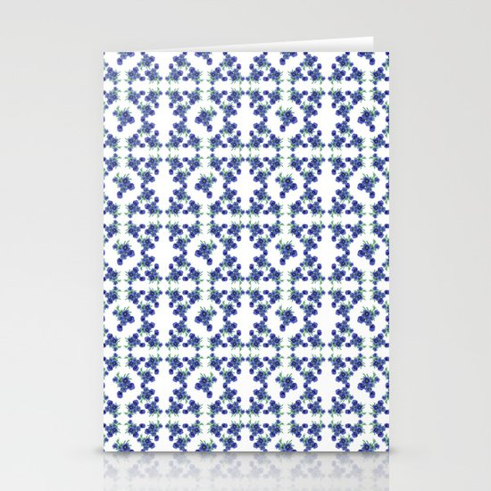Violet Flowers Pattern Stationery Card