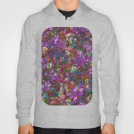 Floral Abstract Stained … Hoody