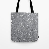 City Grid Night Print Tote Bag