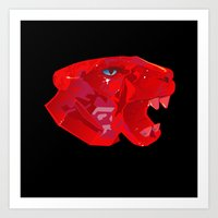 Wild Pink Panther Within  Art Print
