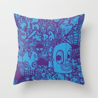 All Day Doodle Throw Pillow