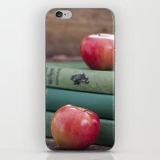 Books and Apples- Fall Reading iPhone & iPod Skin