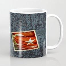 Grunge sticker of Turkey flag Mug
