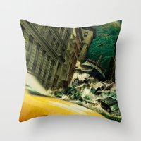 No God's Gonna Save You Now Throw Pillow