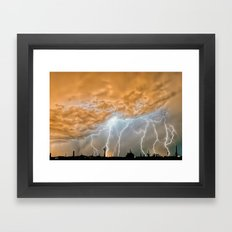 Out of the Late Night Rift Framed Art Print