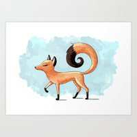 Proud Fox Art Print