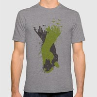 Living With Harmony Mens Fitted Tee Athletic Grey SMALL