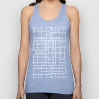 Map Outline White On Bla… Unisex Tank Top