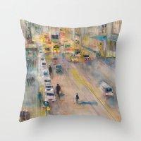 New York City Street View form High Line Throw Pillow