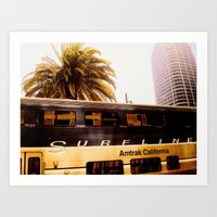 All Aboard the Surfline Art Print