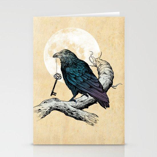 Raven's Key Stationery Card