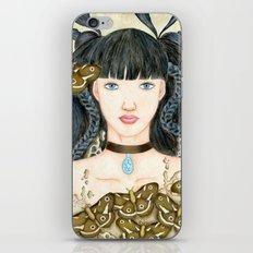 Moth Girl iPhone & iPod Skin