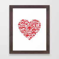 Gaming Love Framed Art Print