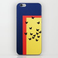 Butterfly Squares Paperc… iPhone & iPod Skin