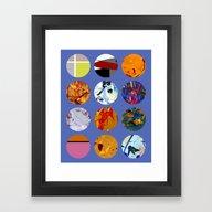 Pattern Circles #3 Framed Art Print