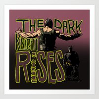 Showdown // The Dark Knight Rises Art Print