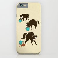 coffee iPhone & iPod Cases featuring Coffee Cat by Boots
