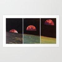 Three Views From The Same Moon Art Print