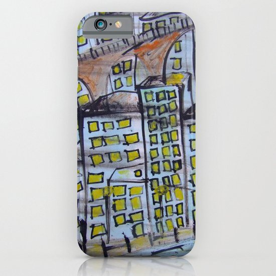 City scape. iPhone & iPod Case