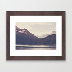 Morning Mountain Lake Framed Art Print