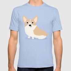 Corgi - Cute Dog Series Mens Fitted Tee Tri-Blue SMALL