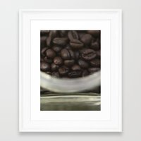 Coffee beans in glass Jar - fine art - still life - interior decoration, for bar & coffeehouse Framed Art Print