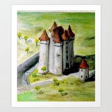 CHATEAU DE JEHAN DE BARBANCOIS Art Print