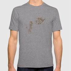All about food Mens Fitted Tee Athletic Grey SMALL