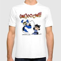 Cat Lucy Mens Fitted Tee White SMALL