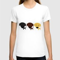 Labrador Retriever dog Womens Fitted Tee White SMALL