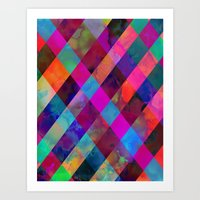 Rio Plaid Art Print