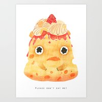 Cheesecake: Please don't eat me! Art Print