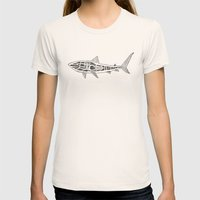 Shark Twist Womens Fitted Tee Natural SMALL