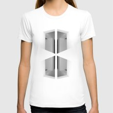 There. Macba, Barcelona Womens Fitted Tee White SMALL