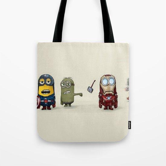 Minion Avengers Tote Bag