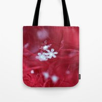 Red Snowflake Tote Bag
