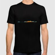 Istanbul City Skyline Hq… Mens Fitted Tee Black SMALL
