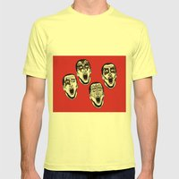 Kiss Cage Mens Fitted Tee Lemon SMALL