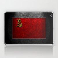 USSR Flag Stone Texture Laptop & iPad Skin