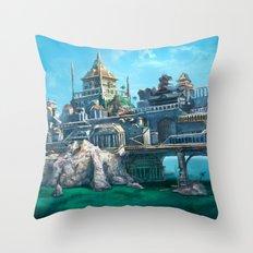 -City on the Big Bridge- Throw Pillow