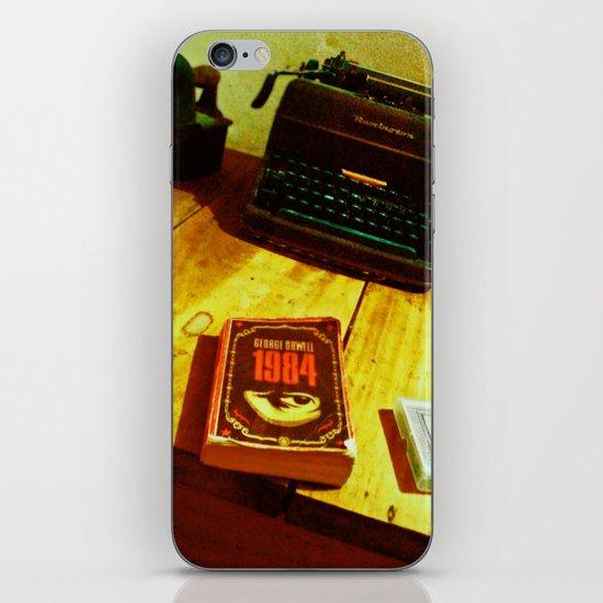 BOOK, CARDS AND MACHINE iPhone & iPod Skin