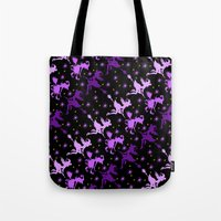 Witches Starry Night Pattern Tote Bag