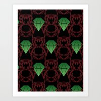 Emeralds & Demons [BLACK… Art Print