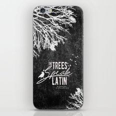 The Trees Speak Latin - Raven Boys iPhone & iPod Skin