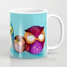 Fabric Owl Family Mug