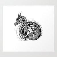 Nesting Dragon Art Print