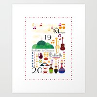 Paris _ Belleville Art Print