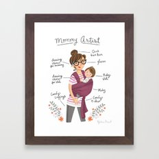 Mommy Artist Framed Art Print